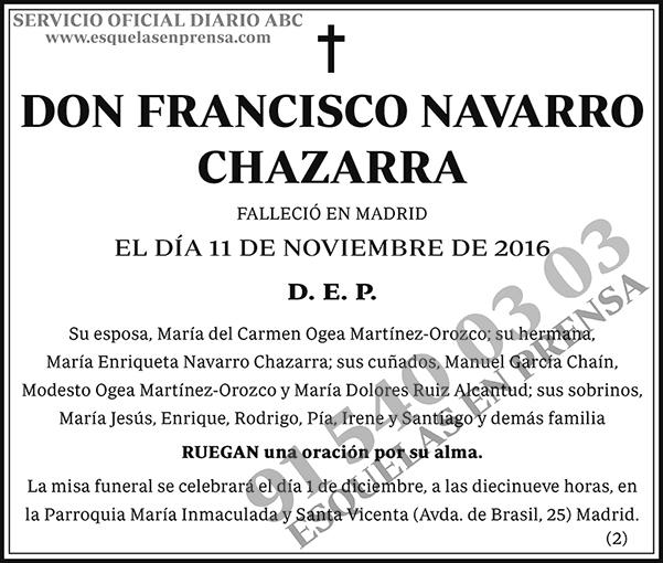 Francisco Navarro Chazarra | Esquelas en ABC